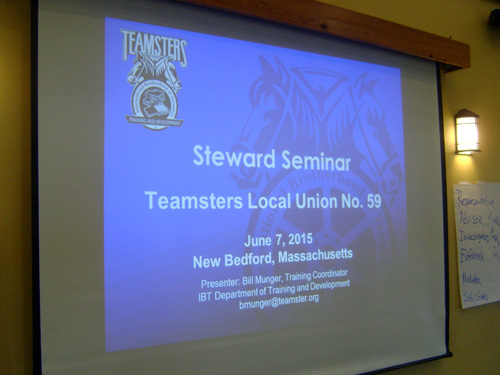 Stewards Participate At Teamsters 59 Seminar