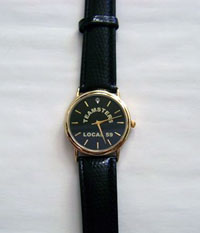 Mens' Black Teamsters Watch