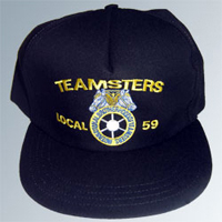 Teamsters Union Local No. 59 Black Hat (Baseball Style)